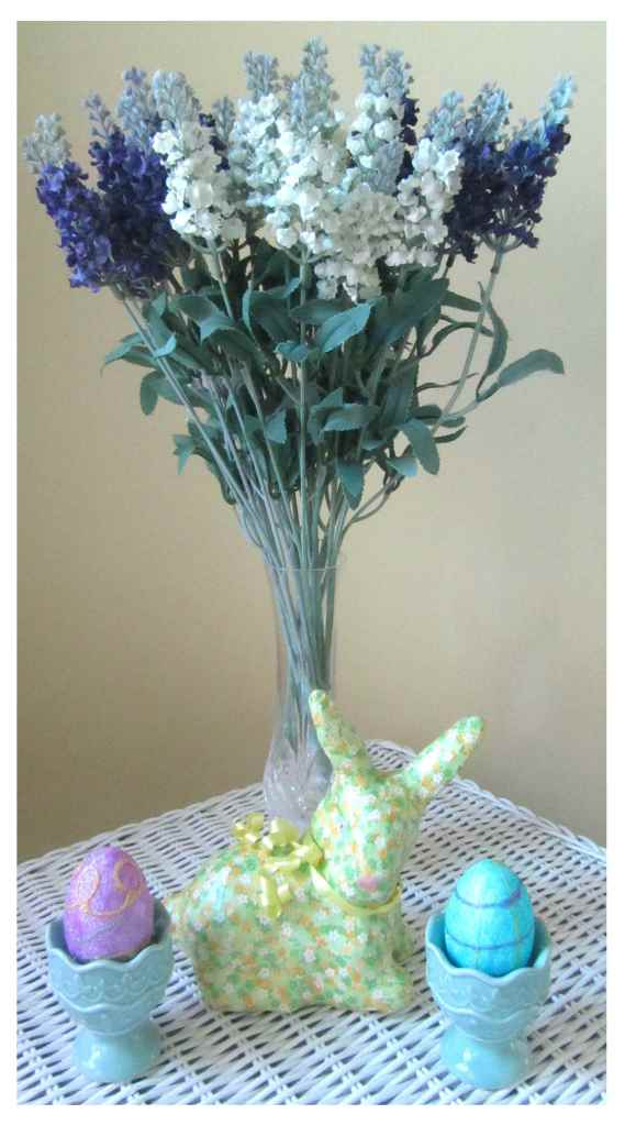 Different flowers and a different bunny create a totally different display to suit your decor.