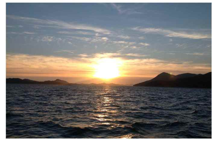 A sunset cruise in Dubrovnik brought us these beautiful scenes.