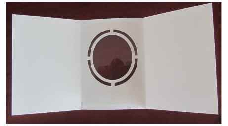 Blank cut-out card with acetate.