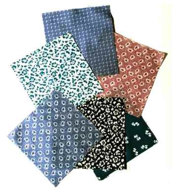 Laura Ashley prints from the 1970s - I would buy assorted squares in packets.